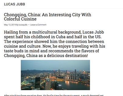 Colorful Cuisine in China (blog post)
