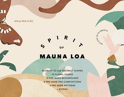 Spirit of Mauna Loa Abstract ShapesbyAgata Mikulska