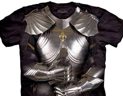 Áo giáp thời xa xưa in áo thun đồng phục