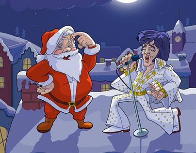 Santa Claus and his Elvis