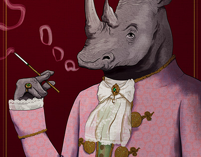 Victorian Rhino - Character Design