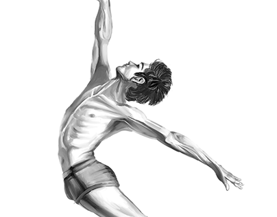 Male Dancer Illustration