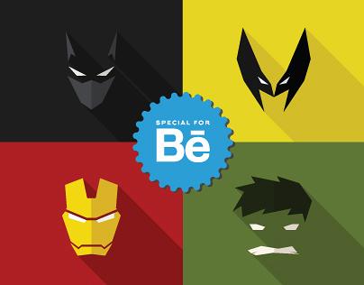 Masks of SuperHeroes (Set #1)