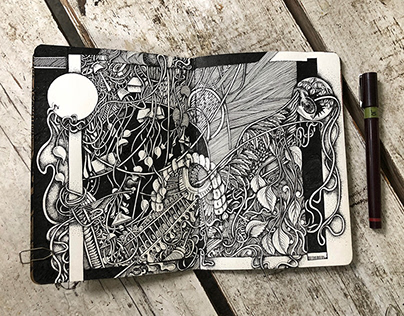 THE SKETCHBOOK PROJECT || Sketch 2-Brooklyn art library