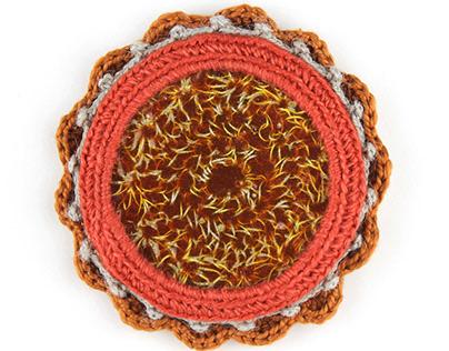 Embedded Crochet Brooch II