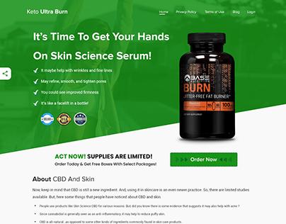 Landing Page Design Fitness Supplements - Upwork
