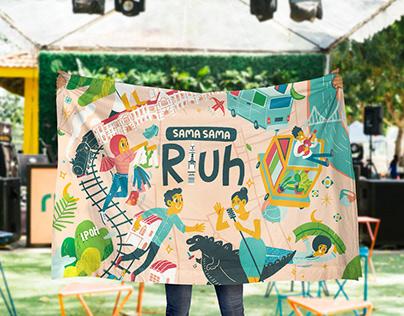 Event Branding Illustration for SAMA SAMA RIUH Ipoh