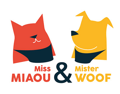 Miss Miaou & Mister Woof - logotype et packaging