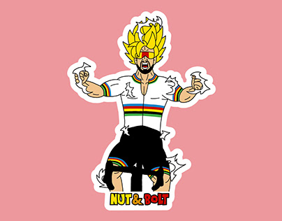 Cycling Character Stickers