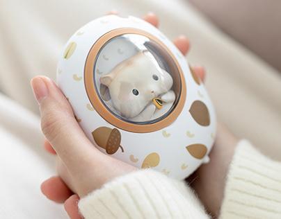 黄油猫太空舱暖手宝