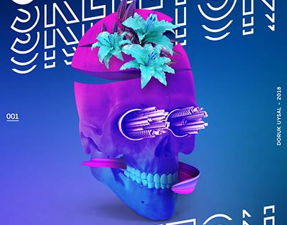 Skeleton Poster / Design Collection 001