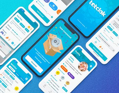 2020 - TotClok | Mobile App Concept