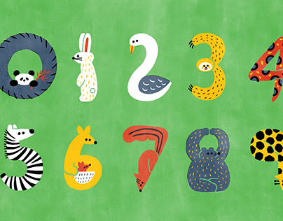 Animals with numbers