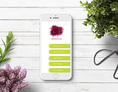 UI/UX for IoT based microgrowing app