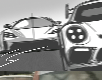 STORYBOARD [PORSCHE TAYCAN OFFICIAL COMMERCIAL]