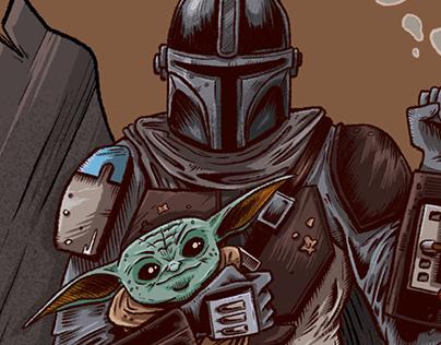 The Mandalorian fan illustration