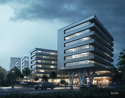 Europa Center Architectural Visualization