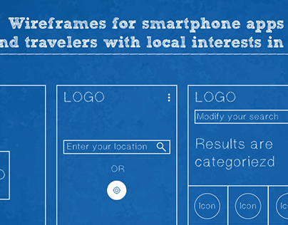 Wireframe of Travel Apps