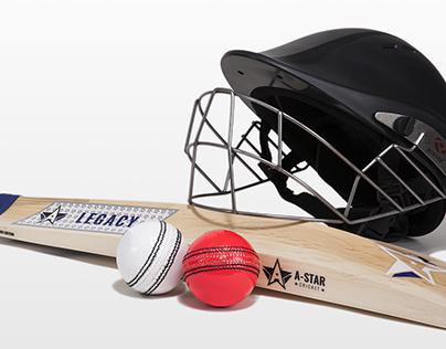 A-Star Cricket Bat Branding