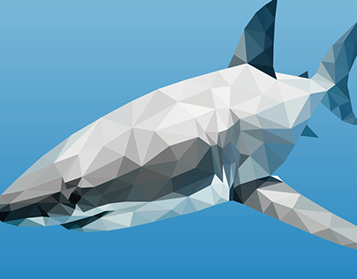 Under the sea, low poly