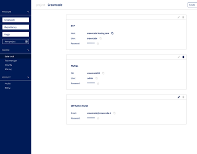 Web app interface