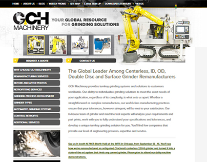 GCH Machinery website redesign & SEO