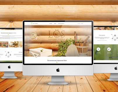 Landing page for Eco Sauna in Tallinn