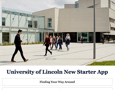 UI/UX Design, University of Lincoln New Starter App