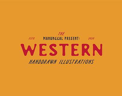 Western Handdrawn Illustrations #1