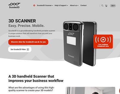 3D Scanner Startup Website Redesign