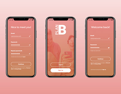 Mobile App Sign In/Sign Up Form UI design