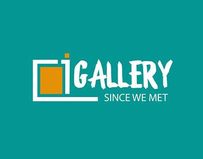 i Gallery logo design