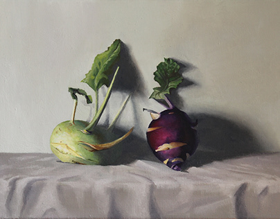 Turnip Cabbages oil on canvas
