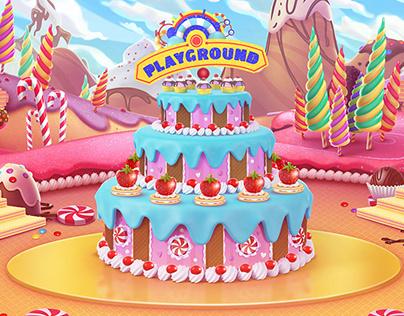 Candy world - Playground Disney
