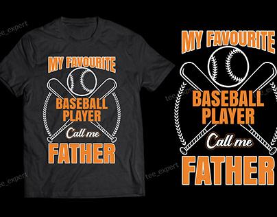 Baseball t-shirt design