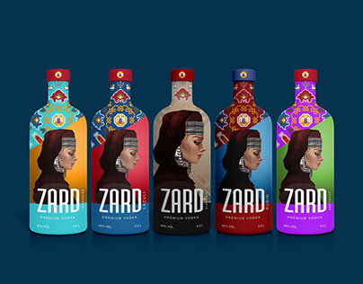 ZARD premium vodka packaging