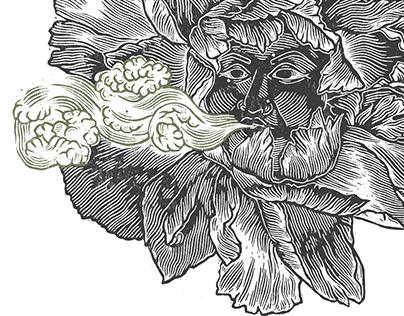 Choke by Chuck Palahniuk Illustrations | Linocuts
