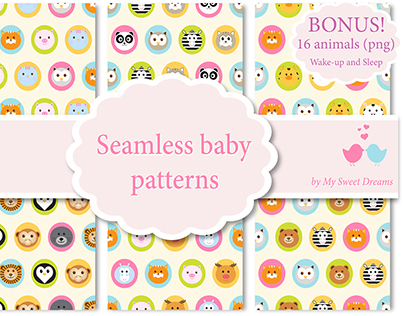 Seamless patterns with animal