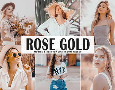 Free Rose Gold Mobile & Desktop Lightroom Preset