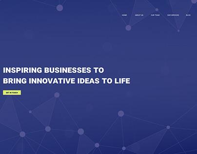 Digital company landing page, 1st screen