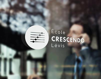 Logo et Carte professionnelle - École Crescendo
