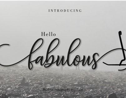 Font Fabulous Script
