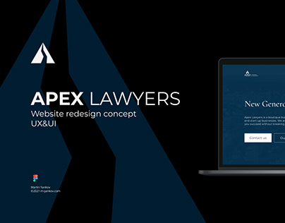 APEX Lawyers - Website Landing Page UX&UI Redesign