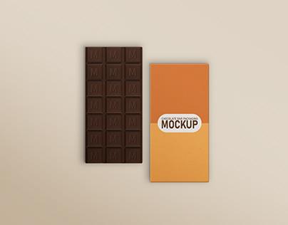 Chocolate Bar Box Packaging Mockup