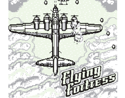 Flying Fortress Glow-in-the-Dark Screen Print