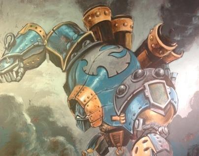 Warmachine: Ol-Rowdy acrylic on canvas board, 40x50 cm