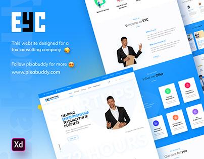 EYC Website Design concept