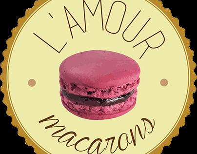 Trabalho L' amour Macarons (marca fictícia)
