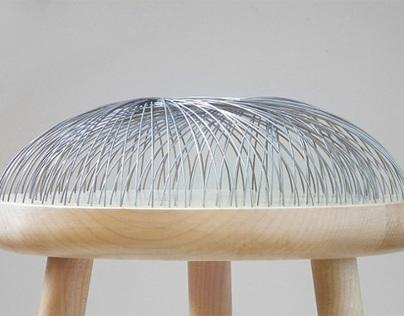 Dome Stool 80tiges d'acier pour un tabouret studio Toer