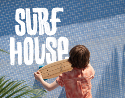 SURF HOUSE LETTERING
